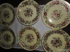 Zsolnay bambusz mintás süteményes tányérok