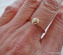 Szépséges 0.1ct gyémántköves 14kt magyar aranygyűrű