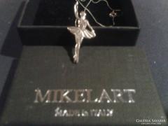 Mikelart olasz balerina ezüst medál láncal