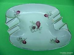 Drasche porcelán virágmintás hamutartó