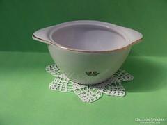 Hollóházi porcelán régi cukortartó