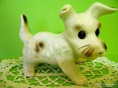 Román retro porcelán foxi kutya
