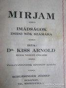 JUDAIKA IMAKÖNYV BUDAPEST 1898 DR KISS ARNOLD BUDA FŐ RABI