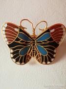 Zománc pillangó bross