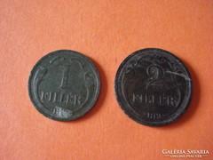1 és 2 fillér 1927
