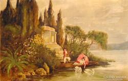 Csónakázó szerelmesek - gyönyörű kvalitásos műalkotás
