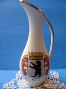 Bavaria füles porcelán váza berlini címer
