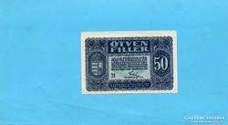 Hajtatlan aUNC 50 Fillér 1920 Elcsúszott nyomat!!