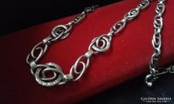 Antik vésett ezüst collier