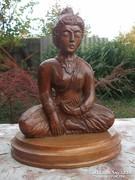 Akció ! Siva-keleti témájú fa szobor 32x25 cm