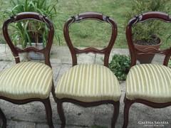 Antik bidermaier 5 darab szék