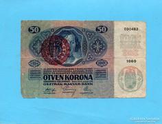 50 Korona 1914 Magyarország Bélyegzés!