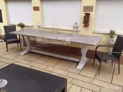 Provence bútor, antikolt 10 személyes nagyméretű asztal 5.