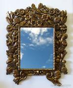 0I486 Antik aranyozott angyalos florentin tükör