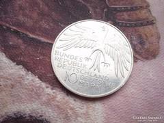 1972 ezüst 10 márka 15,5 gramm 0,625