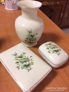Hollóházi váza ékszertartókkal