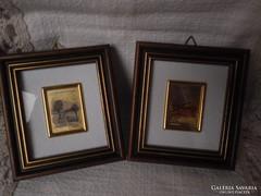 Színarany jelzett miniatűrök Zertifikattal 2 db
