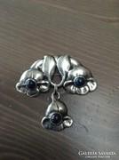 Antik skandináv S. Jacobsen art nouveau ezüst bross