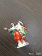 Régi miniatűr kézzel festett orosz porcelán figura