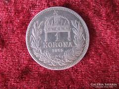 Ferenc József ezüst 1 korona 1915.