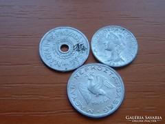 3 DB 2+5+10 FILLÉR 1954,1959,1965