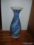 Nagyméretű kerámia váza gyönyörű kék mintázattal