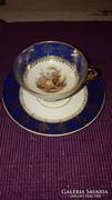 Antik Volkstedt német porcelán mokkás csésze
