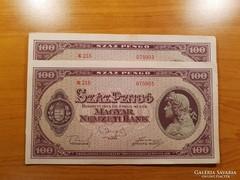 *** aUNC/Hajtatlan 1945-ös 100 pengő ***