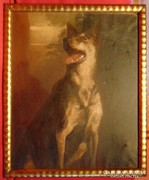 Véreb a sötétben -kvalitásos antik kép
