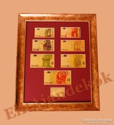 24K arany EURO bankjegyek - SZÍNEZVE
