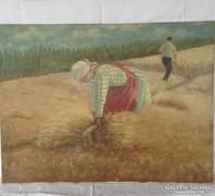 Aratók olaj-vászon nagyméretű festmény