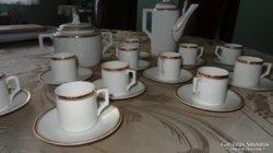 Zsolnay régi kávéskészet 11 személyes