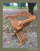 Különleges oroszlános ollószék,lovagi szék,összecsukható