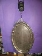 Ezüst ovális tál tálca 535 g 800-as magyar fémjel 39 x 27 cm