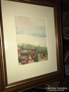 """Kis akvarell"""" Szőnyi szignó """""""