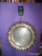 Ezüst kerek tál tálca 520 g 33,5 cm átmérő 800-as 1937-1966