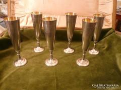 6 db orosz ezüst pohár