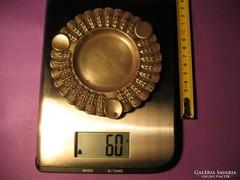 Ezüst hamutál hamuzó búzakalászos 60 g átmérő 12 cm 800-as