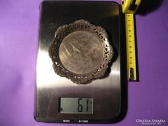 Ezüst áttört hamutál hamuzó tálka kínáló 61 g 11 cm 800-as