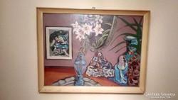 Cora Erzsébet szignózott eredeti festmény