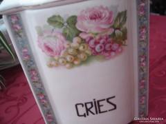 Nagy rózsás fűszertartó-Gries I.
