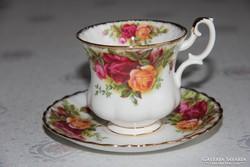 Royal Albert Old Country Roses kávés csésze alátéttel