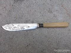 Antik-Sheffield- kés ezüst illeszték antik díszes szép db.