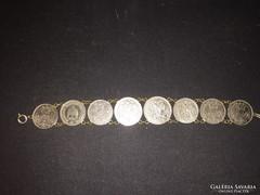 Pénz érmés karkötő