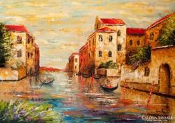 Velence fényei  Festmény