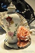 Hollóházi fedeles váza 25, 5 cm