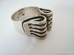 Modernista skandináv ezüst gyűrű