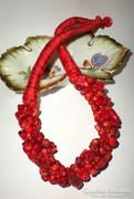 Vörös Korall ásvány nyakék