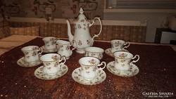 Royal Albert angol porcelán teás- kávéskészlet 6 főre