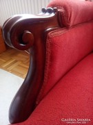 Barokk kanapé - piros